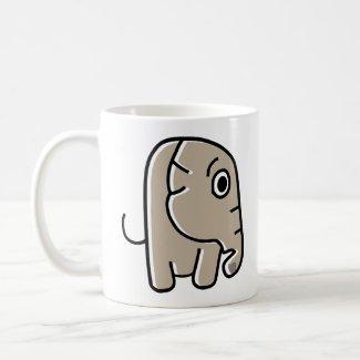 Worried Elephant Coffee Mug