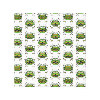 Worried Robot Character Illustration Pattern Canvas Print