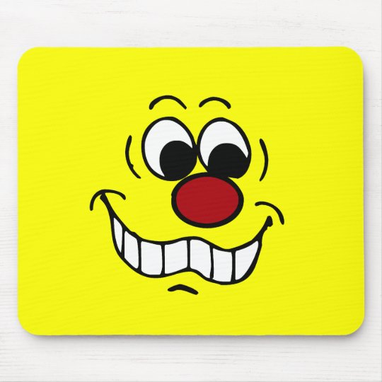 Worried Smiley Face Grumpey Mouse Pad