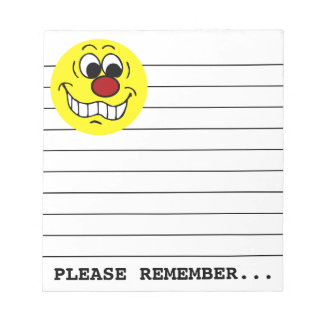 Worried Smiley Face Grumpey Notepad