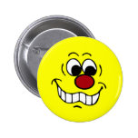 Worried Smiley Face Grumpey Pinback Buttons