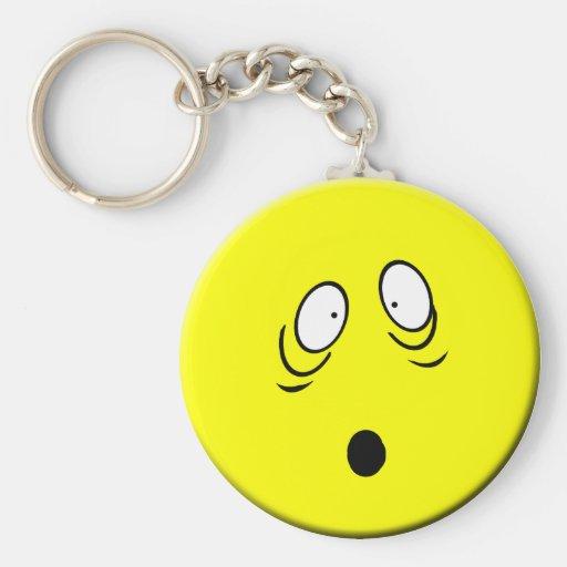 Worried Smiley Keychain