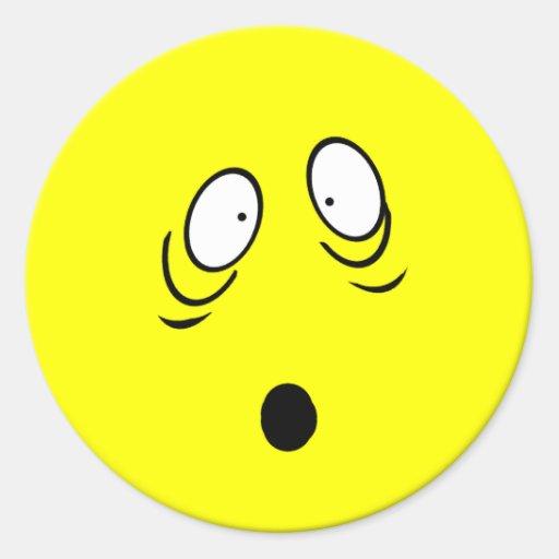 Worried Smiley Sticker | Zazzle