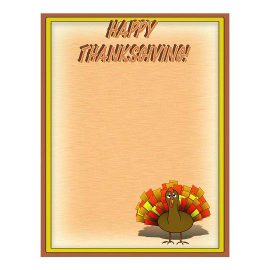 Worried Thanksgiving Turkey Flyer