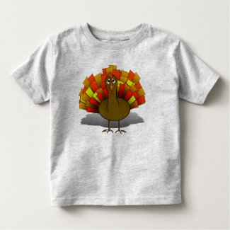 Worried Thanksgiving Turkey Toddler T-shirt