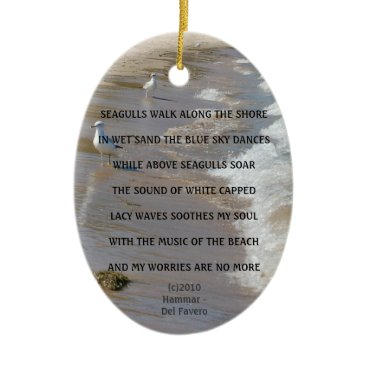 Beach Themed WORRIES ARE NO MORE ORNAMENT/PENDANT CERAMIC ORNAMENT