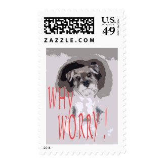 Worries comic cartoon stamps