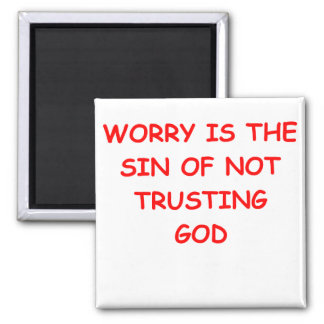 WORRY 2 INCH SQUARE MAGNET