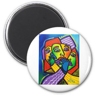 Worry by Piliero 2 Inch Round Magnet