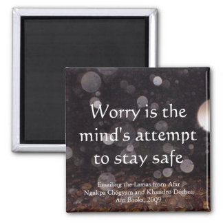 Worry (drops) [magnet] 2 inch square magnet