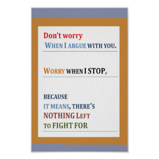 WORRY: If there is nothing left to fight for Print