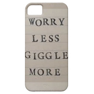 Worry Less Giggle More iPhone SE/5/5s Case