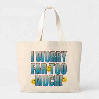 Worry Life B Large Tote Bag