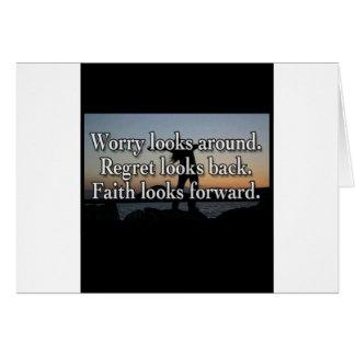 Worry Looks Around Card