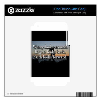 Worry Looks Around Skin For iPod Touch 4G