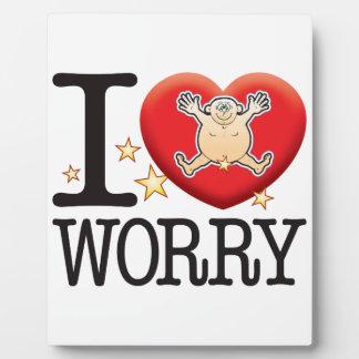 Worry Love Man Plaque