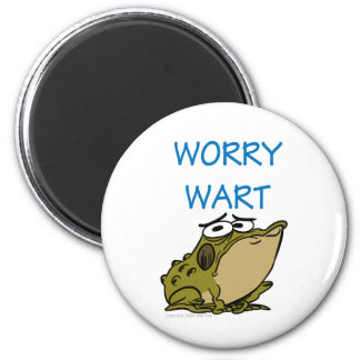 WORRY WART 2 INCH ROUND MAGNET
