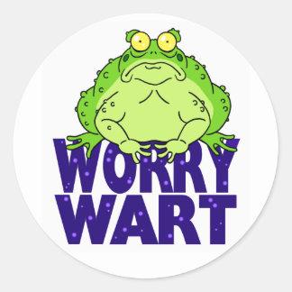 Worry Wart Classic Round Sticker
