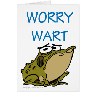 WORRY WART GREETING CARDS