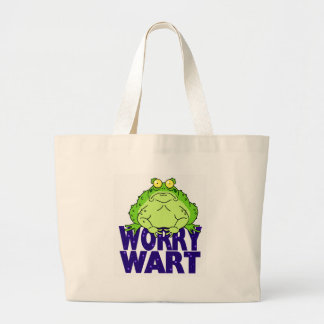 Worry Wart Large Tote Bag
