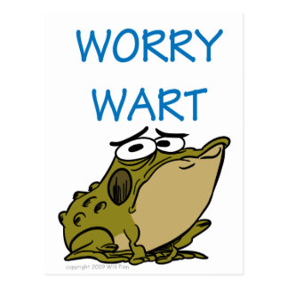 WORRY WART POST CARD