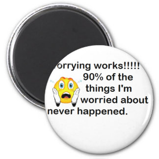 Worrying 2 Inch Round Magnet