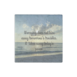 Worrying and Peace Stone Magnet