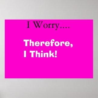 worrying mind print