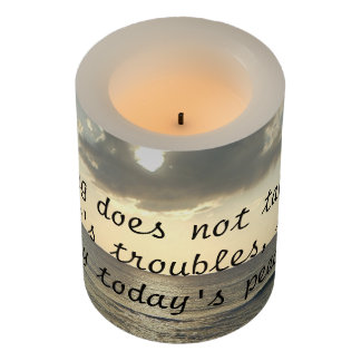 Worrying Takes Today's Peace Flameless Candle