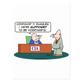 worrywarts de la CIA de la Cia Postales