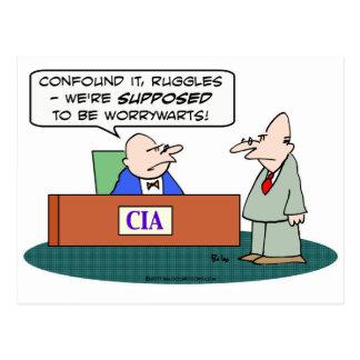 worrywarts de la CIA de la Cia Tarjeta Postal