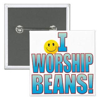 Worship Beans Life B Pinback Button