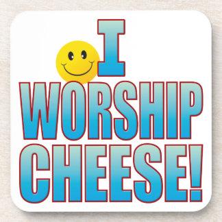 Worship Cheese Life B Drink Coaster