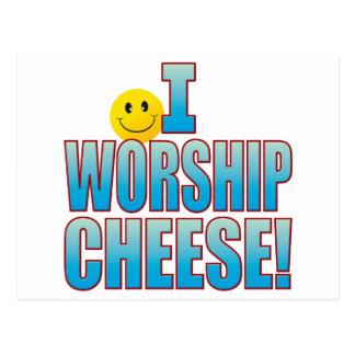 Worship Cheese Life B Postcard
