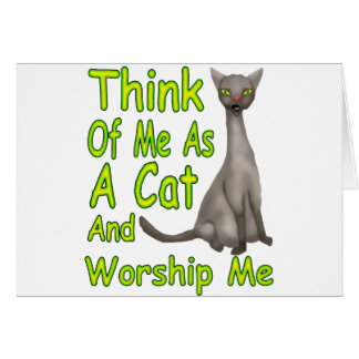 Worship Me Card