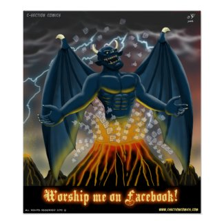 Worship Me on Facebook (Poster) zazzle_print