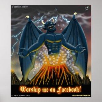 Worship Me on Facebook (Poster) zazzle_print