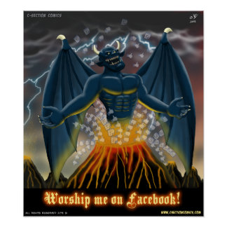 Worship Me on Facebook (Poster) Poster