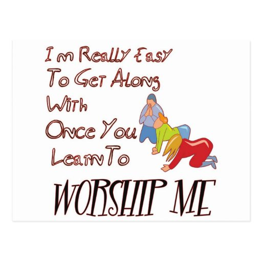 WORSHIP ME POSTCARD