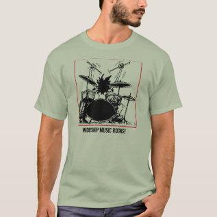 Worship Music Rocks T-shirt at Zazzle
