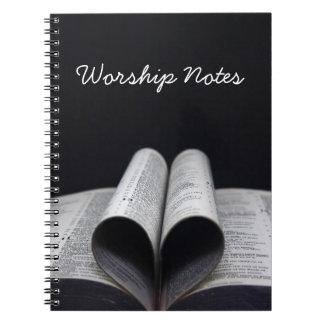 Worship Notes Spiral Notebook