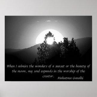 Worship of the Creator - Mahatma Gandhi Poster