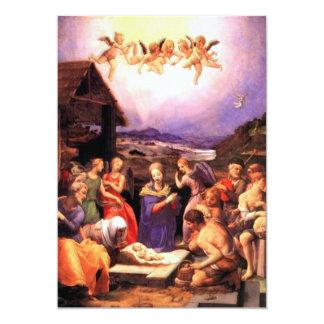 Worship of the Shepherds - Bronzino 5x7 Paper Invitation Card