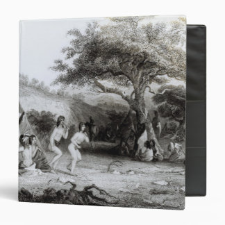 Worship of the Sun, engraved by R. Ehnshelwood 3 Ring Binder