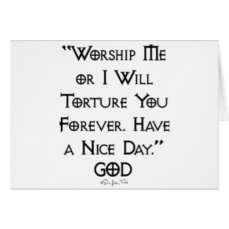 Worship or Torture Card