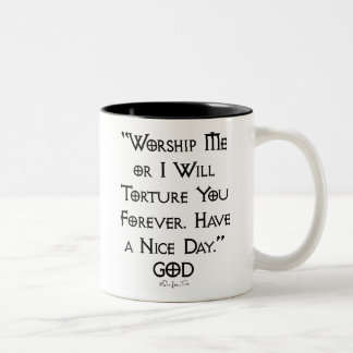 Worship or Torture Two-Tone Coffee Mug