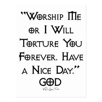 Worship or Torture Postcard