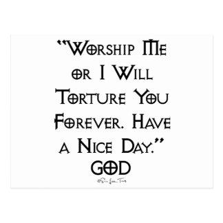 Worship or Torture Postcard