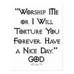 Worship or Torture Postcards