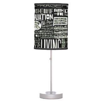 Worship & Prayer Quotes Collage Lamp